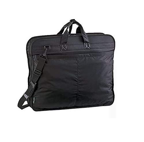 ガーメントバッグ ハンガーバッグ メンズ レディース 2着 旅行かばん 3つ折れ ショルダーベルト付き キャリーバー通し付き ハンガー2本入り 旅行用 便利グッズ 礼服用バッグ