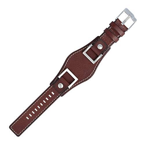 Fossil Uhrenarmband 24mm Leder Braun - JR-1157 | LB-JR1157