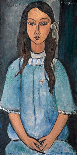 """Modigliani Amedeo, Alice, About 1918, Art Print Poster, Paper Size 14"""" x 11"""" Image Size 12"""" x 6""""(3215)"""