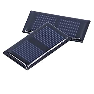 Solar Panel Charger, Solar Panel Good Weather Resistance 1V 0.15W 45x25mm for Low‑Power Devices for Home Lighting