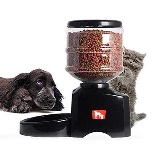 SUIWO Automatische Haustier-Zufuhr 5,5 Liter Beschreibbare Pet Feeder Katze und Hund DREI-Regular Quantitative Feeder automatische Fütterung Maschine mit großen LCD-Schirm und Sprachaufzeichnung