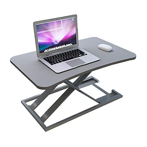 Altura Ajustable Convertidor Escritorio Pie 28,7 Pulgadas Estación Trabajo con Elevador Mesa Sit Stand para Monitor Portátil Casa Oficina (Color : Gray)