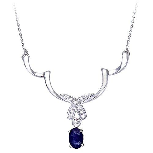 Naava Damen-Halskette 9 Karat 375 Weißgold PNE01130W SA