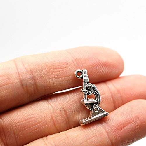 MT 2007 Alloy Charms, Silver Tone Handmade Supply Charms, Handmade Craft, Handmade Jewelry Supply (Microscope 40PCS JHS347)