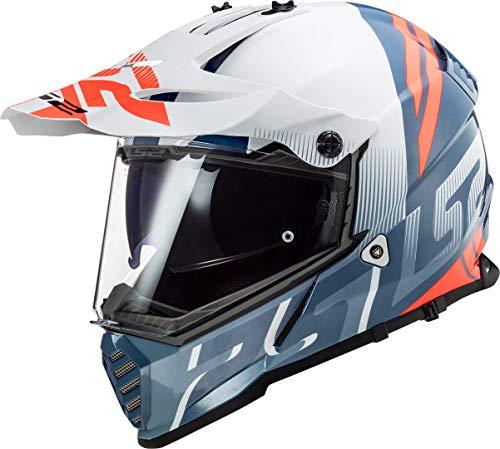 LS2 MX436 Pioneer Evo Evolve Motocross Helm Weiß/Blau XXS (51/52)