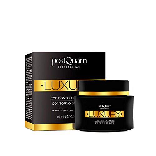 Postquam - Luxury Gold | Contorno de Ojos con Acido Hialuronico y Oro Coloidal - 15 Ml
