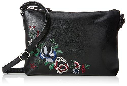 Gabor Umhängetasche Damen Florina, Schwarz (Schwarz), 5x20.5x29.5 cm, Damen Handtasche