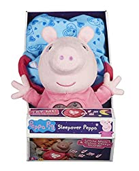 Press the heart on Peppa's chest to hear a lullaby! See the soft night-light glow Take Peppa everywhere in her sleeping bag with carry handle The perfect bedtime companion For ages 3 years and over