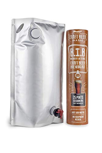 Muntons Craft Beer in a Bag Beer Making Kit   Craft Beer Brewing Kits for Home Brew   Session IPA – Beer Kit with No Equipment Needed, Just Add Water, 25 Pints Brewed and Ready to Drink in 30 Days