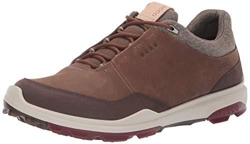 ECCO Men's Biom Hybrid 3 Gore-TEX Golf Shoe, Camel Yak Nubuck, 45 M EU (11-11.5 US)