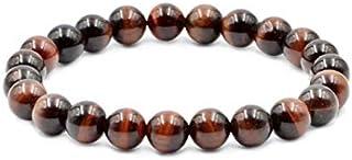 White Whale Red Tiger's Eye Natural Gemstone Round Beads Stretch Bracelet Healing Reiki 8mm
