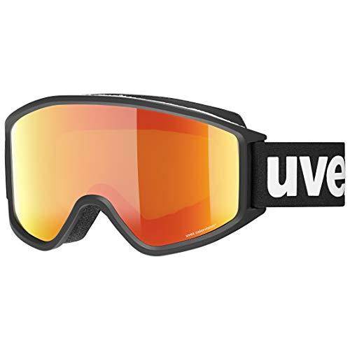 Uvex Unisex-Erwachsene g.gl 3000 CV Skibrille, Black mat/orange-Green, Einheitsgröße