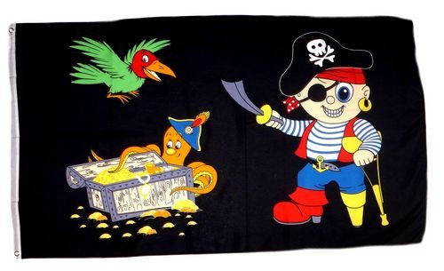 Fahne/Flagge Pirat Party Kinderpirat 60 x 90 cm