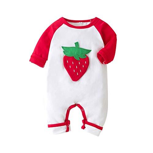 H.eternal(TM) 0-24 M recién nacido bebé niña manga larga lindo estampado mameluco ropa niños traje de una pieza