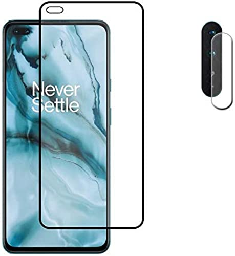 Neworld Tempered Glass Screen Protector Camera Lens Protector For Oneplus Nord With Edge To Edge Full Screen Coverage Installation Kit Black
