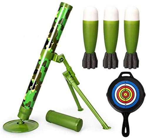 SEESEE.U Mörser-Spielzeug-taktischer Mörser mit Abschuss-Schwamm-Sicherheitsrakete, interessantes Schießenspielzeug, Geschenk für Kinder Geburtstagsweihnachtsneujahrsgeschenk für Jungen