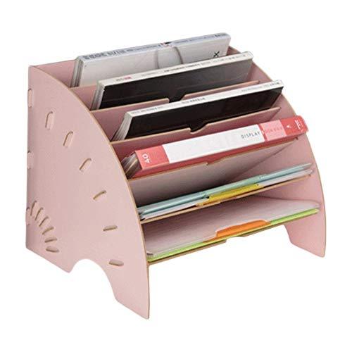 JINQIANSHANGMAO Organizador Organizador de Escritorio de Escritorio de Madera en Forma de fanático del Escritorio DIY DOCMENT File Gabinete (Color : 5AC1103532 PK)