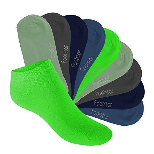 Footstar Kinder Sneaker Socken (10 Paar) - Sneak it! - Cool Colours 31-34