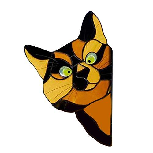 teng hong hui Fensterdekoration Bunt Hängen Glas Hängen Glas Suncatcher Hängen Suncatcher Cartoon-Tier-Anhänger für Heim Auto, Gelb Tier