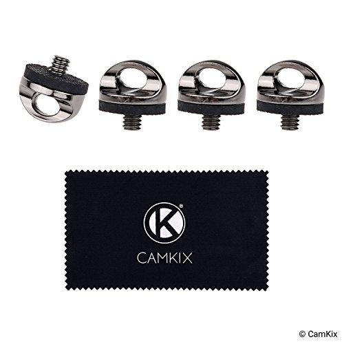 CAMKIX Schnell installierbare Kamera-Stativschraube zum Anbringen von Hals- 4-er Pack