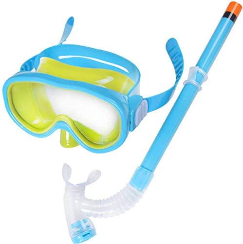 MRSDBTL Niños de los niños Conjunto del Tubo respirador Gafas de natación Semi-seco Equipo de Snorkel para niños y niñas Junior Equipo de Snorkel Edad 5,Azul