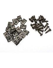 duurzaam 20 stks/partij Schroefclips voor Scooter 50-150 M4x15mm 11x17mm Nut Metal Clip Makkelijk te gebruiken