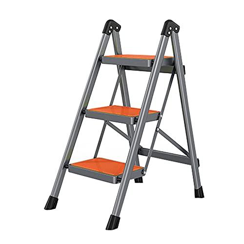 Scaletta pieghevole per interni, scala portatile per casa, cucina, decorazione casalinga, colore: arancione