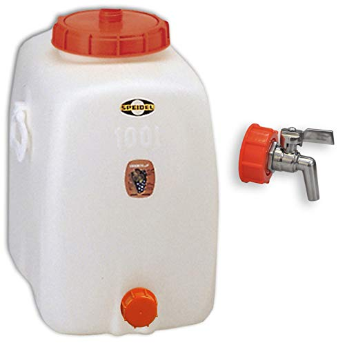 Speidel Getränkefass Oval 100 Liter mit Messing Auslaufhahn