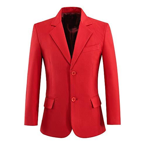 Boys Blazer Toddler Dress Up Suits Jacket Coat for Kids Red Size 5