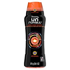 Downy Unstopables In-Wash Scent Booster Beads gives your laundry up to 12 weeks of Tide freshness, from wash until wear Shake a little or a lot of Downy Unstopables laundry scent beads into the cap. Toss into the wash drum at the beginning of the was...