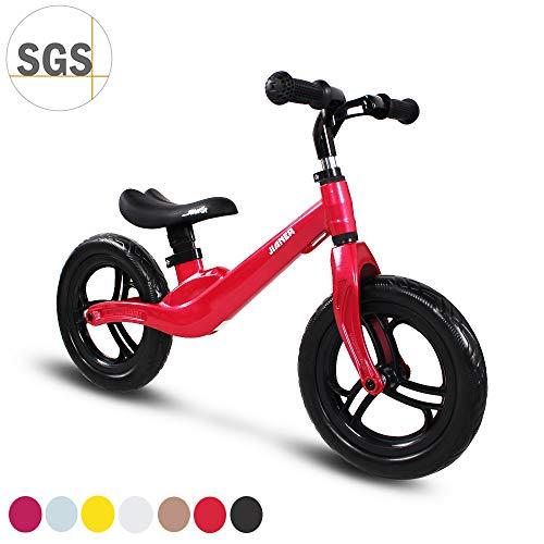 """COEWSKE 12 """"Balance Bike Magnesium Alloy No Pedal Walking Balance Entrenamiento Bicicleta para niños y niños de 2 a 4 años (Champán)"""