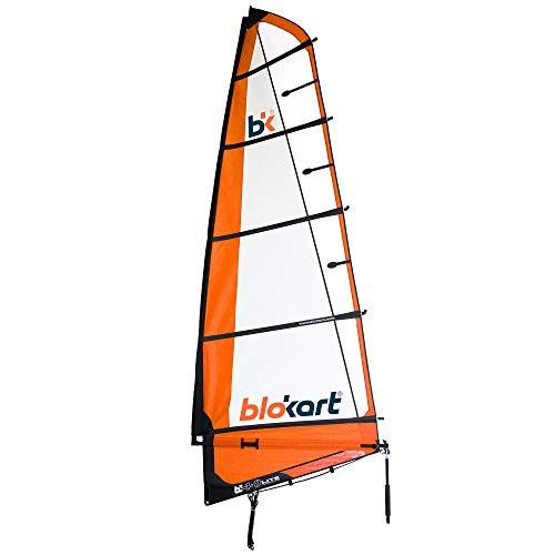 Patiente eléctrico Blokart Sail Complete 4.0m Naranja Unisex Adulto 4.0 m2