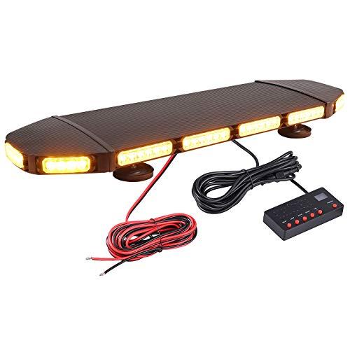 72 LED Luz de Advertencia de Emergencia Magnética IP65 Baliza Impermeable 21 Modos Intermitentes Luz Estroboscópica Ambar Interruptor de Control de Pantalla 216W 12V / 24V para Remolque Camión SUV