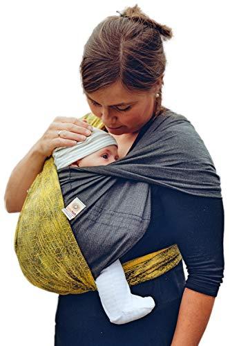 Babytuch - das Tragetuch ohne Knoten (3, Samtschwarz)