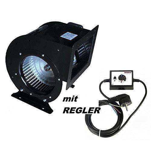OCES afzuigventilator, inclusief 500 W regelaar, afzuigventilator, ventilator, radiale ventilator, motorventilator