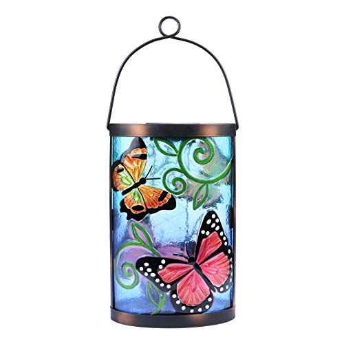 Solar Lantern Outdoor Hanging Lights Waterproof Decorative Lanterns Butterfly Lights LED Lights Lamps for Garden Outdoor Patio Decor