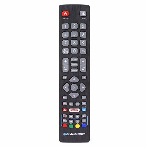 Fernbedienung für Blaupunkt Smart TV mit Netflix, YouTube & 3D Tasten - Mit Zwei 121AV AAA Batterien enthalten