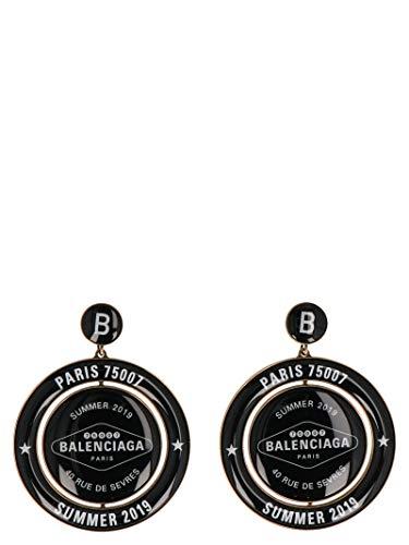 Luxury Fashion | Balenciaga Dames 569864TZ08X7079 Zwart Metaal Oorbellen | Seizoen Outlet