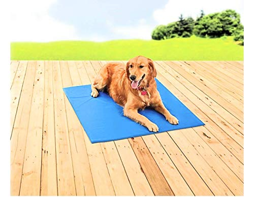 PAWSLIFE Cooling Mat for Dogs - Pressure Activated Gel Dog Cooling Mat - No Need to Freeze Or Refrigerate This Cool Pet Pad - Keep Your Pet Cool, Use Indoors, Outdoors or in The Car