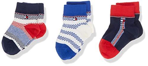 Tommy Hilfiger Unisex Baby TH 3P GIFTBOX NEWBORN Socken, Mehrfarbig (Blue Combo 516), One Size (Herstellergröße: 014) (3er Pack)