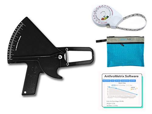 Plicometro Slim Guide Kit AnthroFlex con Cinta Métrica IMC AnthroFlex, Bolsa de...