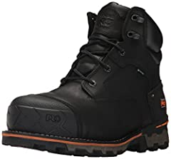 Premium waterproof leather with waterproof membrane Molded Timberland PRO rubber toe protector Dual Density Dynamic Anti-Fatigue Technology polyurethane footbed Dual-density polyurethane (PU) midsole and all-weather Thermoplastic Urethane (TPU) outso...