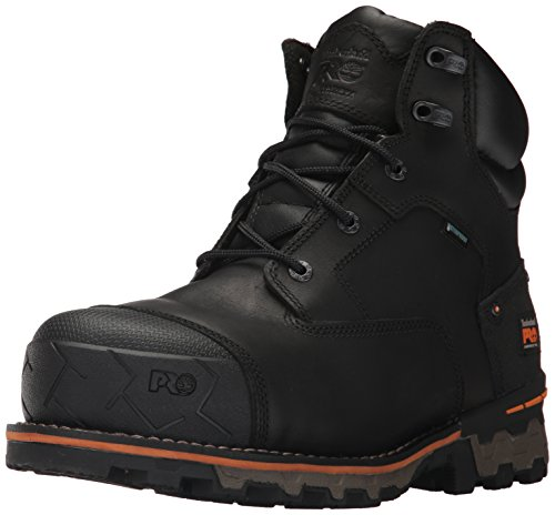 Timberland PRO Men's Boondock 6 Inch Composite Safety Toe Waterproof Industrial Work Boot, Black Full Grain Leather, 10.5