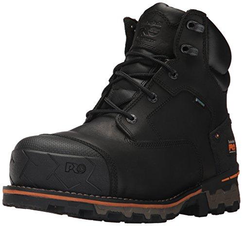 "Timberland PRO Men's Boondock 6"" Composite Toe Waterproof Industrial & Construction Shoe, Black Full Grain Leather, 11 M US"