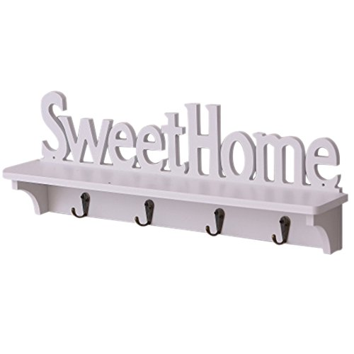 Gesh Estante de pared de jardín de madera elegante hueco hueco hueco estante de pared Inglés dulce hogar estantería decoración del hogar