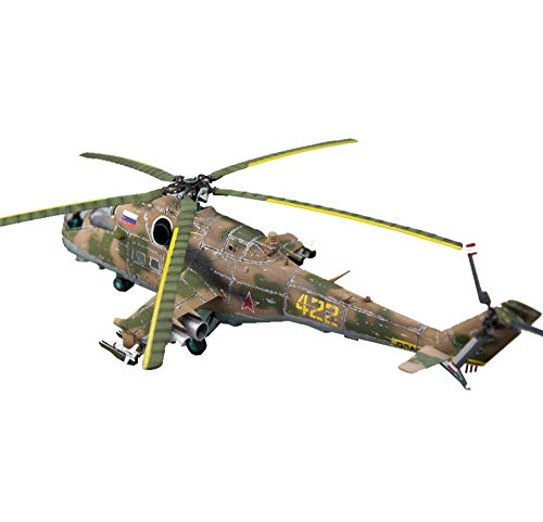 X-Toy Military Plastic Model Kits, 1/48 Russland MI-24 Hellichooper Helicopterpuzzle Modell, Adult Puzzle Spielzeug, 13.8Inch × 11.1Inch
