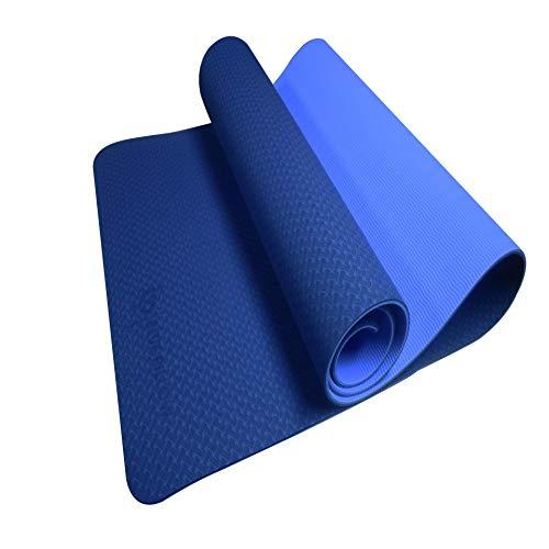 Tapis de Yoga Antidérapant BLUEPILLOW - Tapis de Fitness en TPE Facilement Recyclable - Fourni avec son Sac de Transport Idéal en Voyage - Grand Tapis de Gym au Sol Confortable 5mm d'Épaisseur