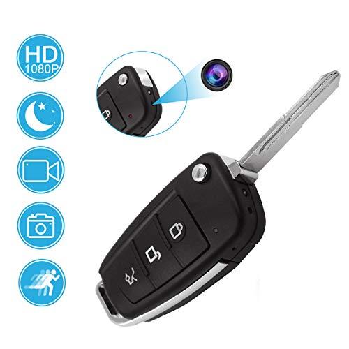 KAMREA Mini Versteckte Überwachungskamera, HD 1080P Tragbare Autoschlüssel Sicherheit Nanny Kamera Kleine Video Recorder mit Bewegungserkennung und Infrarot Nachtsicht