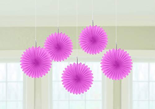 Deko-Fächer 15cm einfarbig pink (5 Stück)