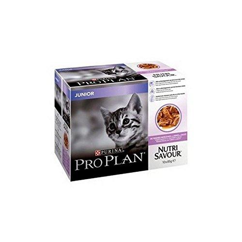 Pro PLAN - Nutrisavor infantil para gato con Turquía (grave, 10 x 85 g, 850 g) (Pack de 4)